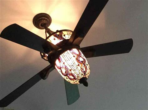 stained glass ceiling fan stained glass ceiling fan light shades home design