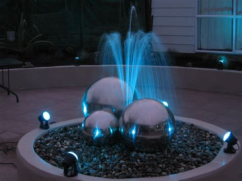 pool fountain with lights led pond light pal stand alone colour change
