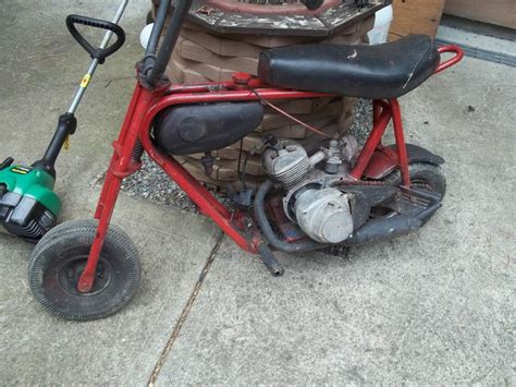 keystone mini bike with original tas engine restore or
