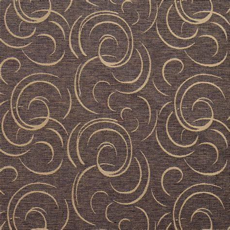 contemporary drapery fabric cream swirl brown and gold contemporary linen upholstery