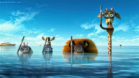 film kartun bajak laut wallpaper madagascar berenang di laut gambar kartun lucu