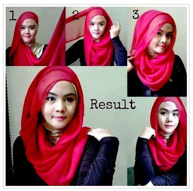 tutorial hijab pashmina semi formal contoh tutorial hijab pashmina acara formal terbaru