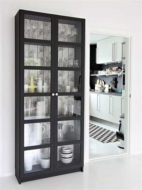 Billy Pantry by Best 25 Glass Bookcase Ideas On Dining Room