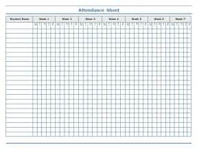 Template Sheets by Weekly Attendance Sheet Template For Students Helloalive
