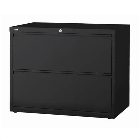 2 drawer lateral file cabinet in black 14983