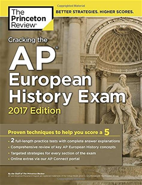 cracking the ap european history 2018 edition proven techniques to help you score a 5 college test preparation cheapest copy of cracking the ap european history