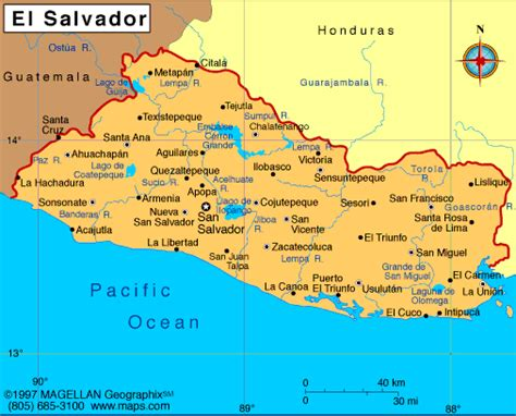 el salvador on world map belize
