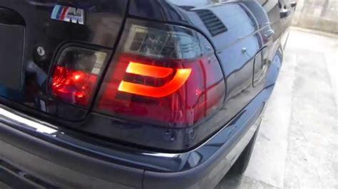 e46 m3 led tail light conversion bmw e46 soner soke red tube led tail light install diy