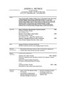 resume exle 29 free resume templates for mac free