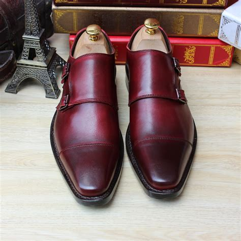 Custom Handmade Shoes - goodyear handmade shoes s leather shoes business monks