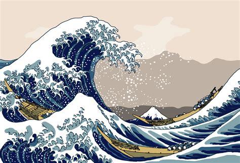 hokusai wallpaper wallpapersafari