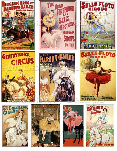 decoupage poster decoupage paper collage sheet circus vintage circus