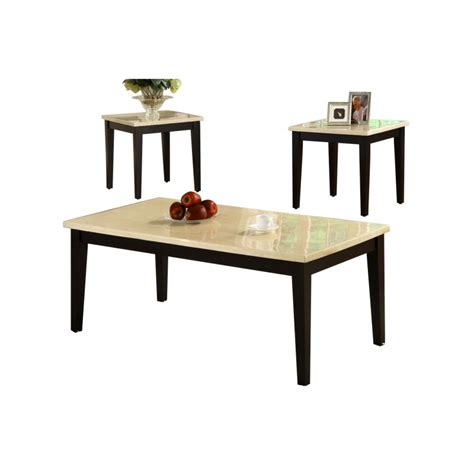 irene espresso coffee table set