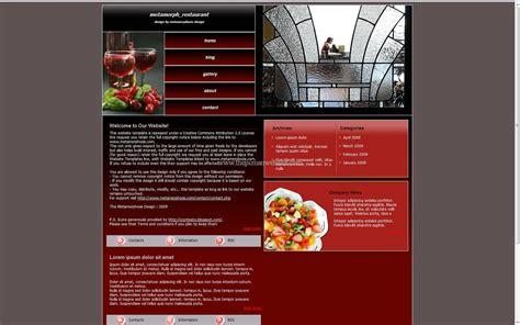 css layout restaurant metamorph restaurant free css template