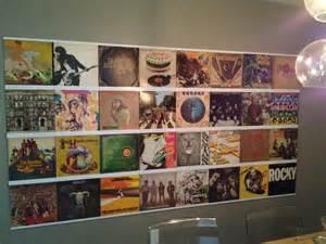 white vinyl record frame display records on walls