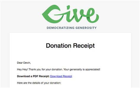 donation receipt email template pdf receipts for give donations plugin