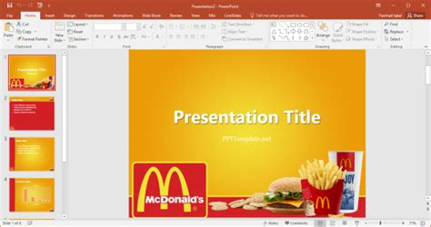 free mcdonald s powerpoint template