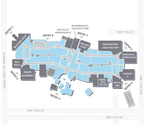 layout of dolphin mall 15 best shopping mall plan images on pinterest shopping