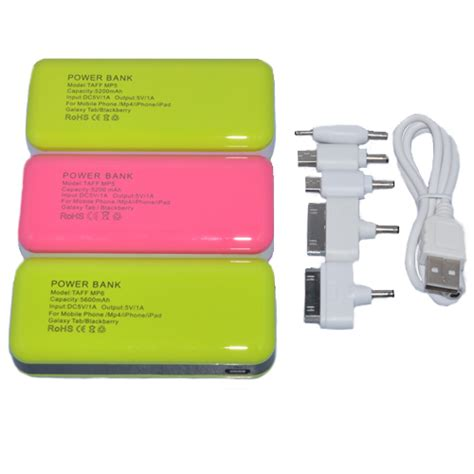 Taff Power Bank 5600mah Model Mp6 For Tablet And Smartphone taff power bank 5600mah model mp6 for tablet and smartphone white jakartanotebook