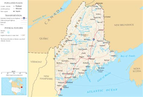 show me a map of maine maine