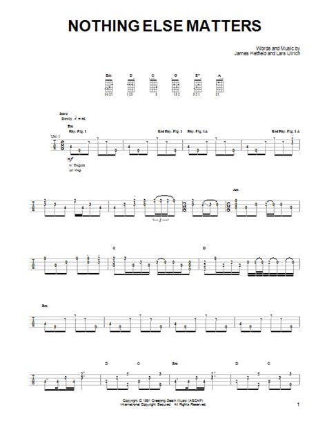 tab nothing else matters ukulele metal search results sheet direct