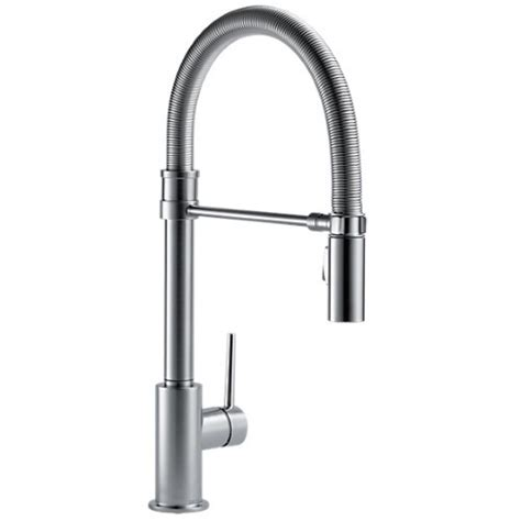 ferguson faucets kitchen d9659ardst trinsic pro pull out spray kitchen faucet arctic stainless at shop ferguson