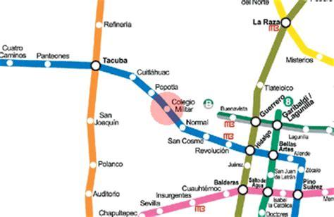 Colegio Militar station map - Mexico City Metro