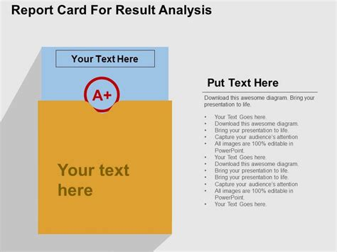 Powerpoint Report Card Template by Report Card For Result Analysis Flat Powerpoint Design