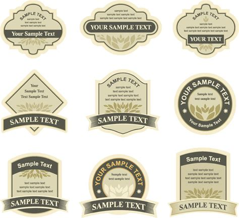 template for bottle labels simple bottle label affixed vector free vectors graphic design