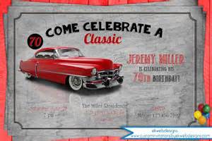 classic car birthday party invitation men s