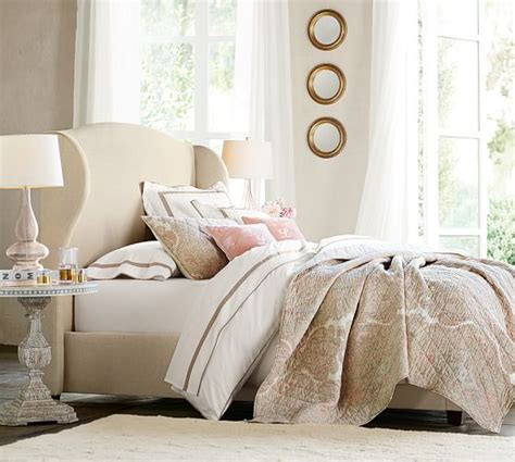 pottery barn upholstered headboards raleigh upholstered wingback bed headboard pottery barn