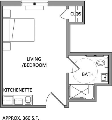One Bedroom Apartment Dimensions Assisted Living Apartment Floor Plans Louisiana