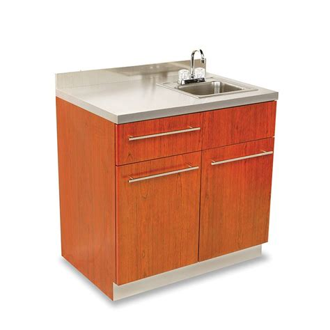 stainless steel sink and counter dispensary sink cabinet with stainless steel counter