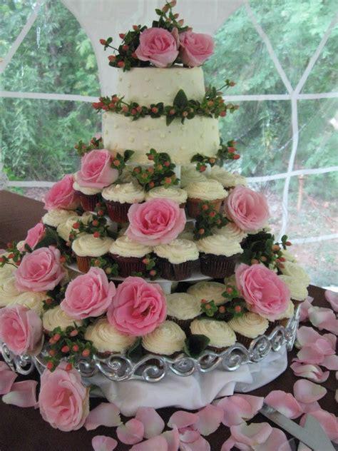 Cupcake Wedding Cake by Chef Tony Catering Wedding Cake Cupcakes