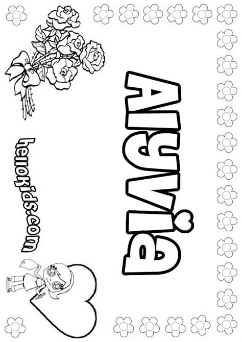 coloring pages of girl names alyvia coloring pages hellokids com