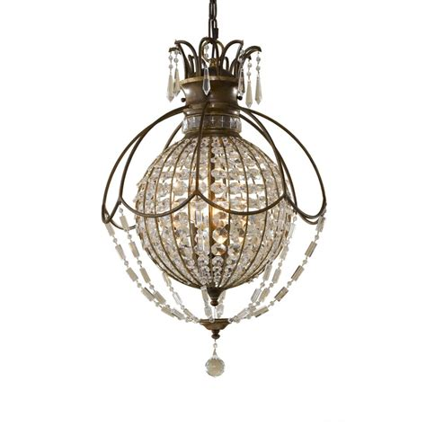 Circular Chandelier Lighting Bellini Large Globe Shaped Chandelier Antique Bronze Dressed
