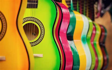 colorful guitar wallpaper colorful guitar hd music 4k wallpapers images