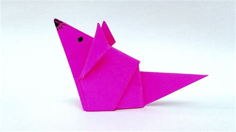 Easy Origami Mouse - origami best origami animals images on origami rat eric