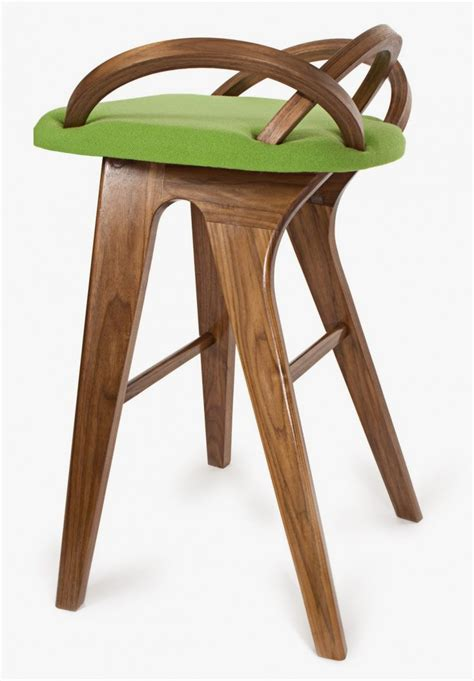 Ordinary Modern Art Nouveau Furniture #1: Side-view-of-Modern-Art-Nouveau-Barstool-inspired-by-Opening-Flower-Petals.jpeg