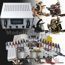 Eagle Tattoo Kits | 4 machines skeleton eagle tattoo kit 15 color inks