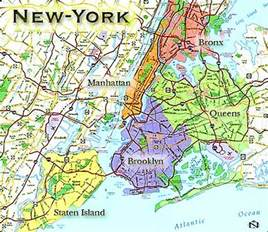 Map Of New York City Boroughs by New York City Global Sherpa
