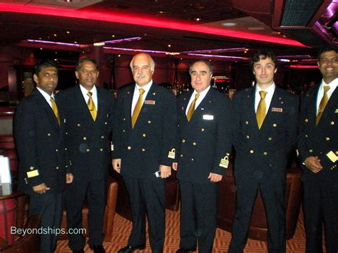 Ship S Officer by Carnival Splendor With Captain And Senior Officers