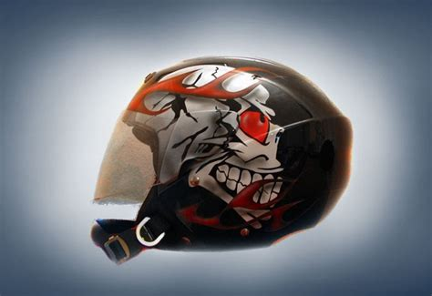 airbrush helmet design 2011 airbrushed helmet skull design car modification 2011