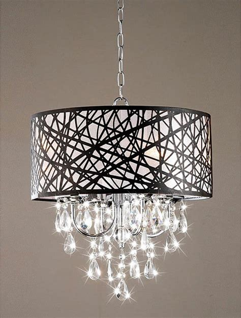Chandelier Contemporary Indoor 4 Light Chrome Antique Bronze Chandelier Contemporary Chandeliers By Overstock