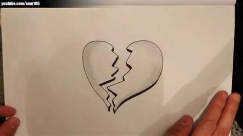 imagenes de amor roto para dibujar como dibujar un corazon roto youtube