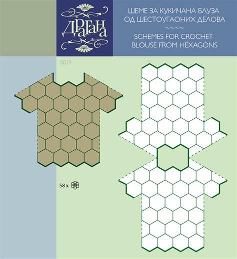 hexagon pattern clothes crochet hexagon motifs diagrams for a top crochet