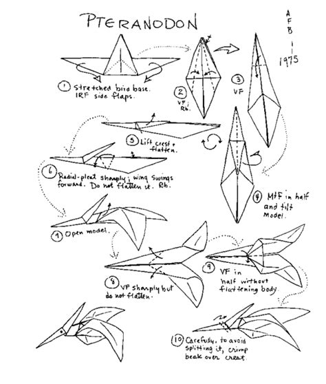 Origami Dinosaur Diagram - free coloring pages origami dinosaur 101 coloring pages