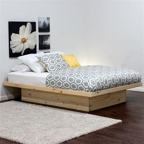All Wood Platform Bed Full Cal King Headboard Diy Queen All Wood Bed Frames