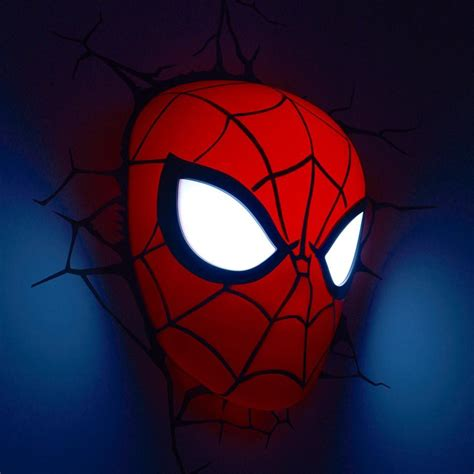 bedroom night light licensed marvel 3d fx deco bedroom wall led childrens