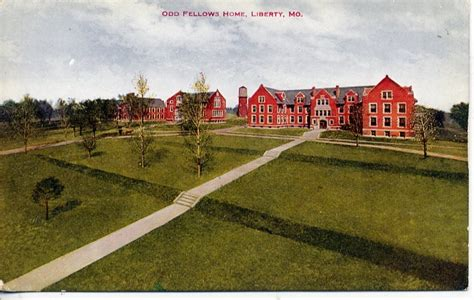 vintage postcard liberty missouri fellows home ioof ebay